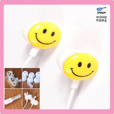 Yellow Smile/Earphones Headphones Earbuds for MP3,iPhon