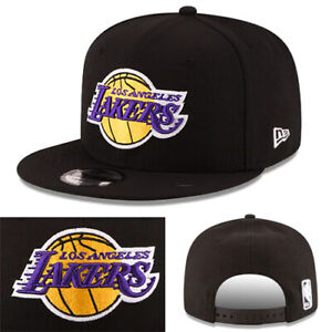 9e68df63fb68 New Era Los Angeles Lakers Classic Snapback Hat NBA Black Lebron James Game  Cap