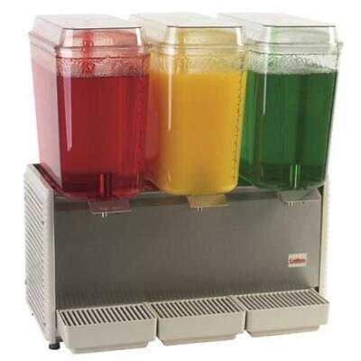 Crathco - D35-4 - 3 Bowl Refrigerated Beverage Dispenser With Plastic Side Panel