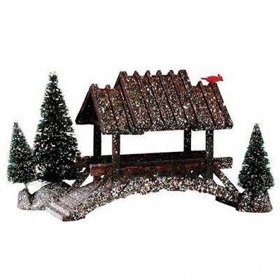 """Lemax 14618 Wooden Bridge Porcelain Village Accessory, 5"""""""