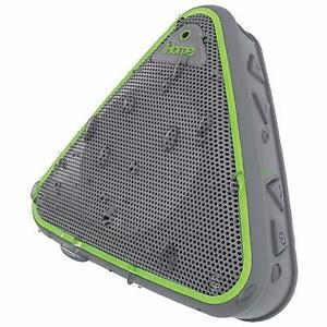 NEW iHome iBT3GQC Splash-Proof Bluetooth Wireless Speaker - Grey