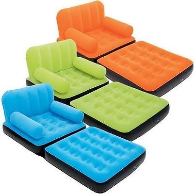 INFLATABLE BESTWAY SINGLE SOFA BED COUCH BLOWUP BED MATTRESS CHAIR LOUNGER  ()