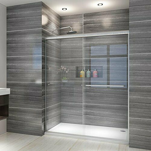 "ELEGANT SHOWERS 50-54"" W x 72"" H, Semi-frameless 2 Bypass Sl"