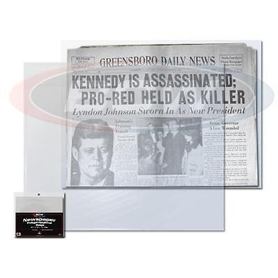 5 Loose Bcw Newspaper Sleeve Bags Storage Holder Protection 13 3 8  X 11 7 8