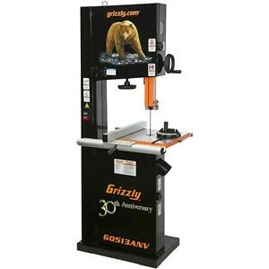 G0513ANV Grizzly 17 Inch 2 HP Bandsaw, Anniversary Edition