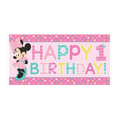 Minnie Mouse Banner (MINNIE MOUSE Fun to Be One JUMBO PLASTIC BANNER ~ First Party Supplies 1st)