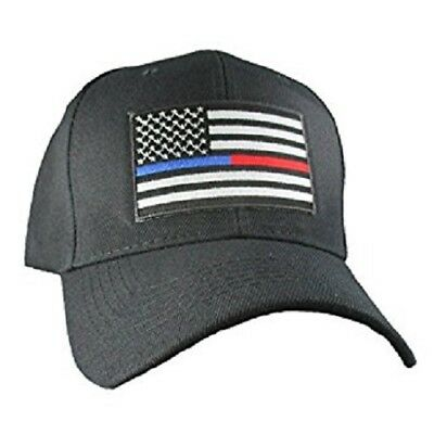 Thin Blue Line Red Line Police Fire Firefighter Law Enforcement Hat Cap - Fireman Hat