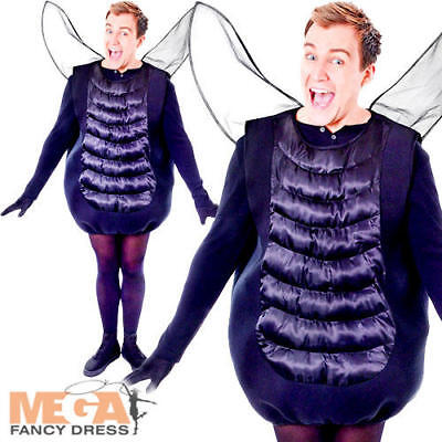 Black Fly Adults Fancy Dress Halloween Bug Insect Animal Mens Ladies Costume New - Bug Halloween Costumes For Mens