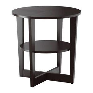 VEJMON, Table d'appoint, brun-noir