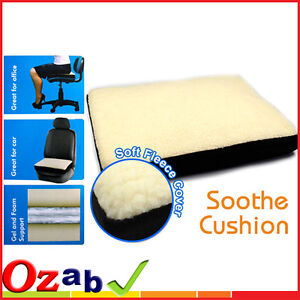 Liquid Gel Super Comfort Fleece Memory Foam Cushion Comfortable Sit Chair Seat