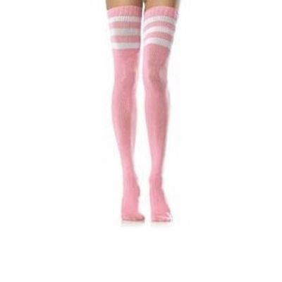 Child Referee Costume (Women's Sexy Baby Pink 118 Referee Over The Knee Sock Fancy Dress Hen Theme Fun)
