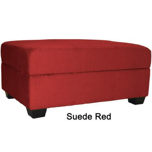Pink Fairy Wishes Bench Seat With Storage Toy Box Seating: Red Storage Ottoman