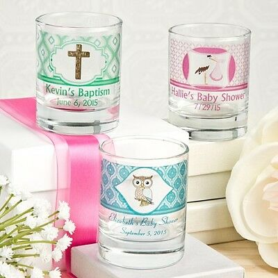 40 Personalized Shot Glasses With Gift Boxes Baby Shower Religious Party Favors (Personalized Party Glasses)