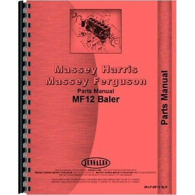 Massey Ferguson 12 Baler Parts Manual Mh-p-mf12 Blr
