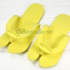 12-Pairs-24pcs-Disposable-One-time-Pedicure-Slipper-Spa-Salon-Foam-Flip-Flop-NEW