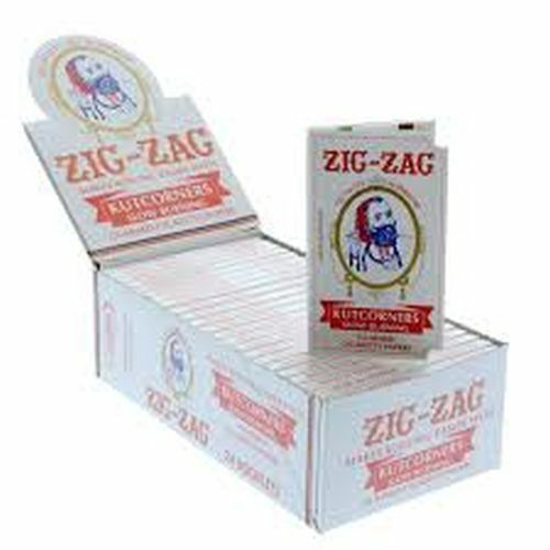 24x Packs Zig Zag KutCorner ( 32 Leaves Papers Per Pack ) Slow Rolling FULL BOX