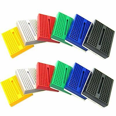 DaFuRui Small breadboard kit with 170 Tie Points 12Pack Mini breadboard Small...