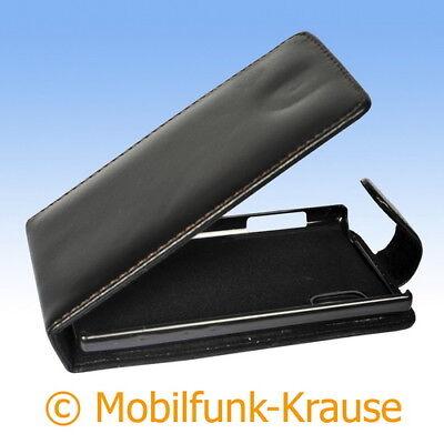Flip Case Etui Handytasche Tasche Hülle f. LG E610 Optimus L5 (Schwarz) (Handy Case Lg Optimus)