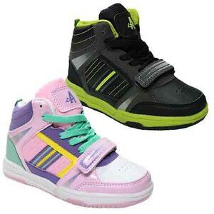 NEW-BOYS-GIRLS-HI-HIGH-TOPS-SKATE-TRAINERS-BASEBALL-SCHOOL-DANCE-SHOES-SIZES-8-2