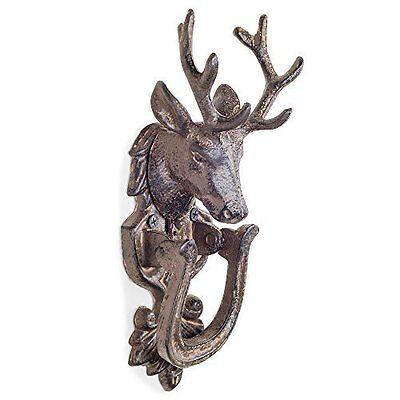 Antique Bronze Cast Iron Stag's Head Country Style Door Knocker