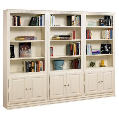 wood bookcases with doors ebay