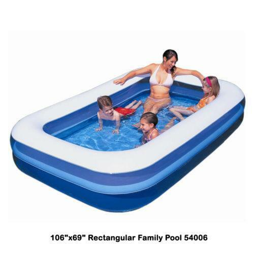 Rectangular paddling pool ebay for Small paddling pool