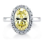 Canary CZ Ring