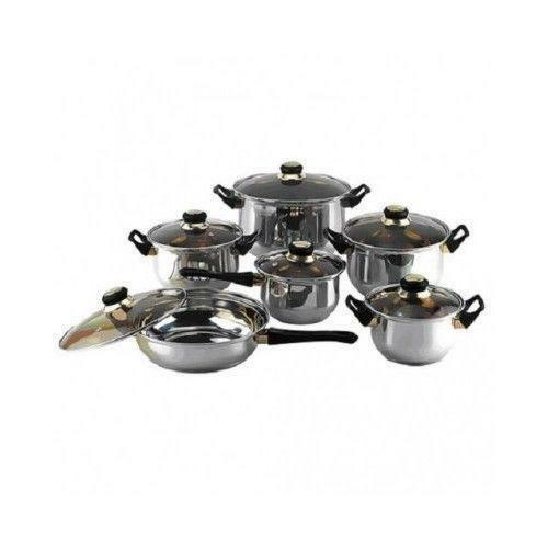stainless steel cooking pots ebay. Black Bedroom Furniture Sets. Home Design Ideas