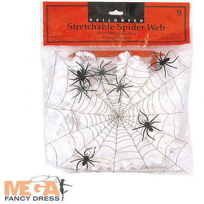 Large Spider Web Halloween Party Decoration Stretchable Spooky Horror Cobweb Set](Large Spider Web Halloween Decoration)