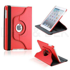 RED 360 ROTATING PU LEATHER CASE COVER WITH STAND FOR IPAD MINI Regina Regina Area image 1