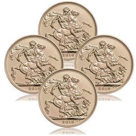 4x 1 Pfund Sovereign Jahrgang 2016 * Sonderpreis