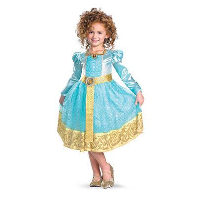 Girls Brave Merida Halloween Disney Cartoon Costume