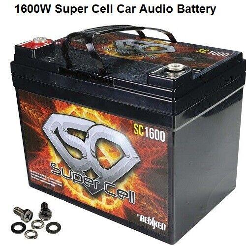 Car Audio Super Cell Battery Energie SC1600 12 V Volt 1600 Watt Sealed Reikken