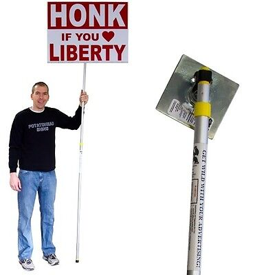 Guerilla Pole Storefront Sign Spinner Political Rally Corner Shaker Waver