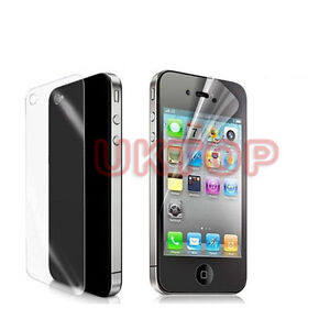 3 x Front And Back Matte Anti-Glare LCD Screen Protector Cover For iPhone4 4s