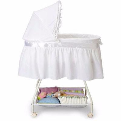 White Bassinet Baby Basket Cradle Crib Nursery Infant Newborn Portable Sleeper