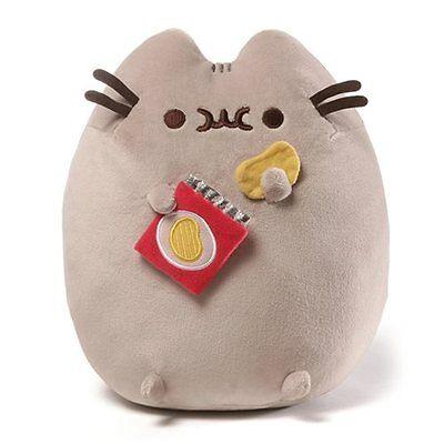Gund New * Potato Chip Pusheen * 9.5-Inch Plush Cat Grey Tabby Kitty Stuffed Toy