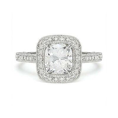 1.80 ct G VS1 CUSHION CUT GIA DIAMOND 14k WG ENGAGEMENT RING