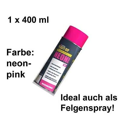 Plasti Dip it SPRÜHFOLIE Felgenfolie Flüssiggummi Neonspray neon-pink 1x 400 ml