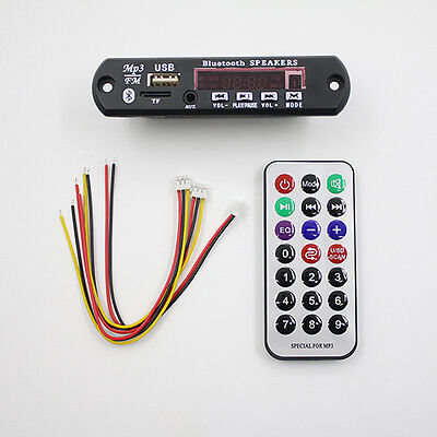 Bluetooth 12V MP3 WMA Decoder Board Audio Module TF USB Radio for Car Showy