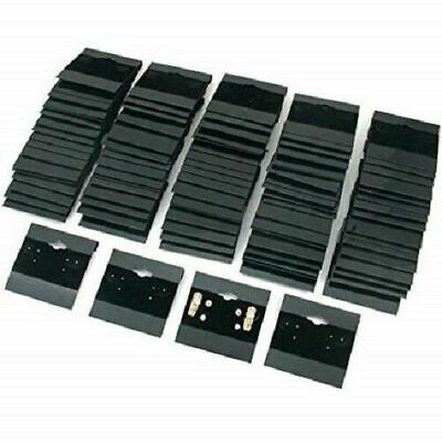 100 Pcs Black Earring Display Hang Flocked Cards 1.5 X 1.5 Jewelry Hanging Cards