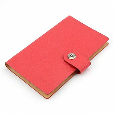 Business Card Holder Book Pu Leather 240 Name Cards Organizer Red