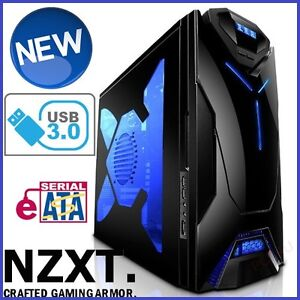 NZXT Guardian 921 RB USB 3.0 ATX Computer Gaming Case Quiet Mid Tower ESATA USB3