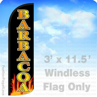 Barbacoa - Windless Swooper Flag Feather Banner Sign 3x11.5 - Kq