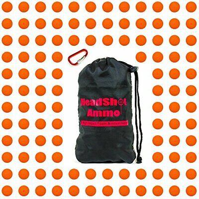 HeadShot Ammo Orange Bulk Foam Bullet Ball Replacement Refill Pack, Compatible w
