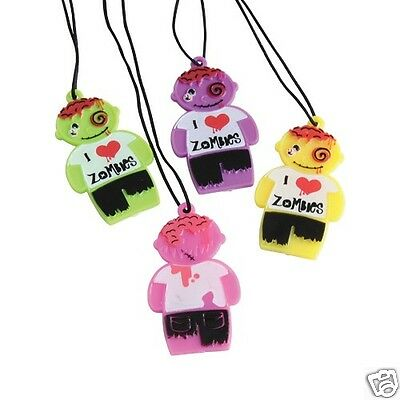 12 Zombie Necklaces Kid Halloween Birthday Party Goody Loot Gift Bag Favor - Halloween Goodie Bags