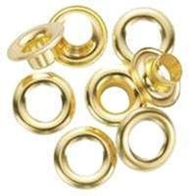 "NEW GENERAL TOOLS 1261-0 PACK OF (24) SOLID BRASS 1/4"" GROMMETS REFILLS SALE!!!"