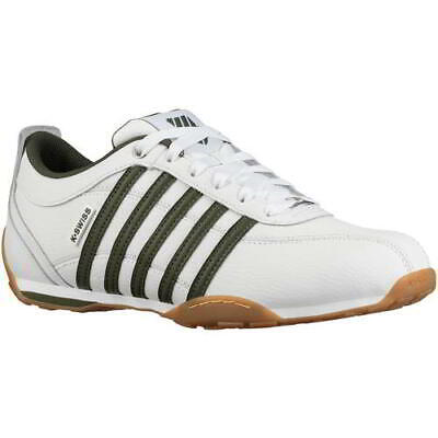 K Swiss Arvee 1.5 Mens Classic White Green Leather Trainers Shoes Size 7-12