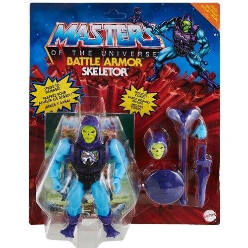 Masters Of The Universe Origin Battle Armor Skeletor DELUXE Figure SET IN HANDS - $39.99