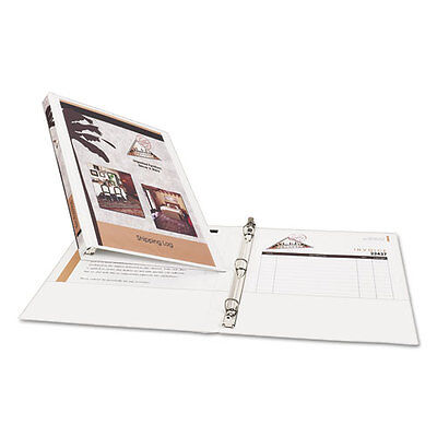 Avery Economy Vinyl Round Ring 3-ring Binder 12 White - Ave05706